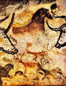 Ancient Paleolithic paintings in Lascaux, south west of ...