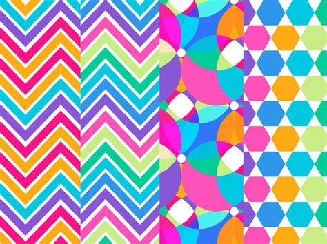 rainbow background geometric pattern set vector art