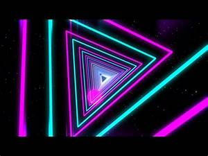 Motion Graphics VJ Dancing Colorful Neon Light Tunnel