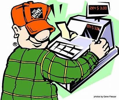 Depot Cashier Clip Clipart Homer Bing Apron