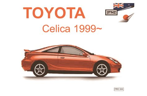 free service manuals online 1993 toyota celica seat position control toyota celica owners service manual 1999 2006 zzt23