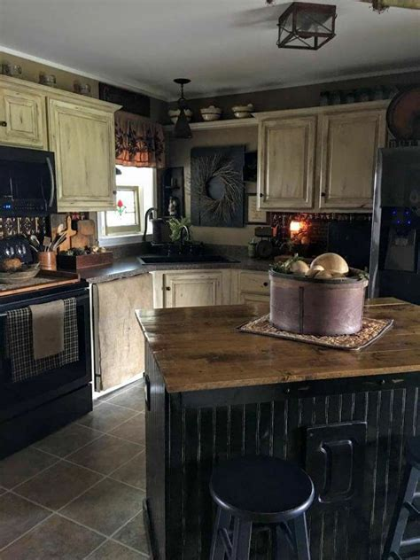 pin  lesa renninger  home decor primitive kitchen