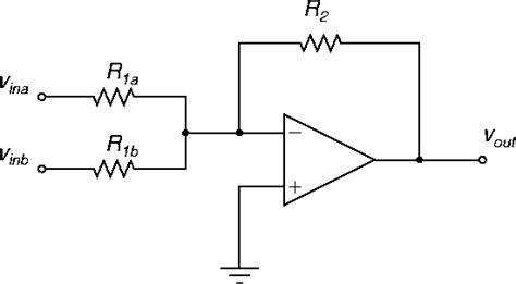 Amp Non Inverting Summing Amplifier Ripple Gain
