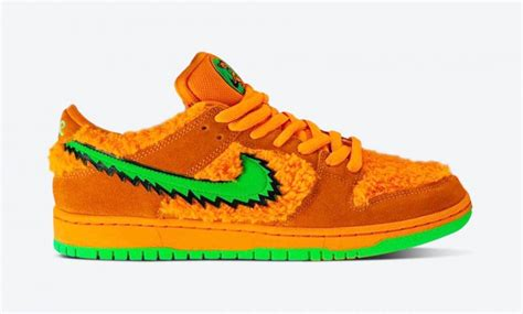 nike sb dunk pro grateful dead orange