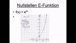 Nullstellen E-funktion
