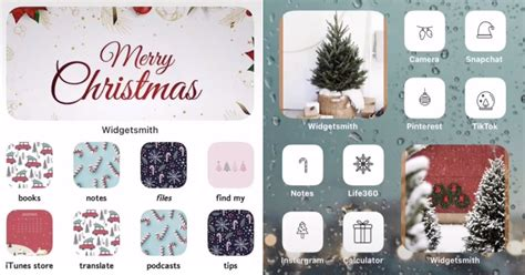 christmas ios  home screen aesthetic ideas popsugar