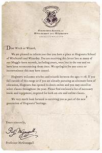apologies for the late acceptance letter or maybe With original hogwarts acceptance letter