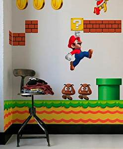 super mario wall decal nerdy with children With mario wall decals