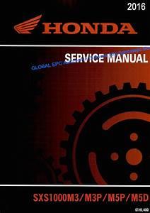 Automotive Repair Manuals  Utv Honda Pioneer 1000 Series  2016  Workshop Repair Manual And