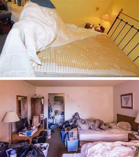 dans chambre hotel photo une chambre d 39 hôtel laissée dans un bien piteux