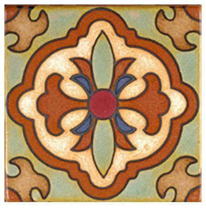 terracotta accent tile mediterranean accent trim