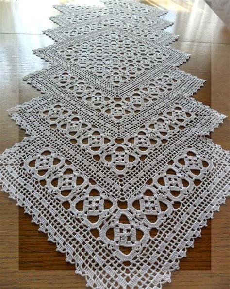 creative handmade crochet tablecloth table runner