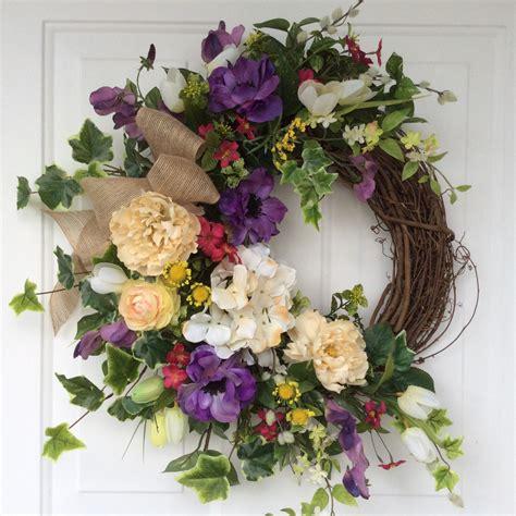 easter wreaths for front door wreaths easter wreath tulip wreath front door