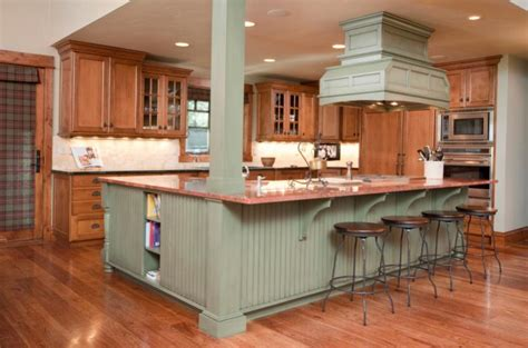 green kitchen island ideas best kitchen colors gallery slideshow 4015
