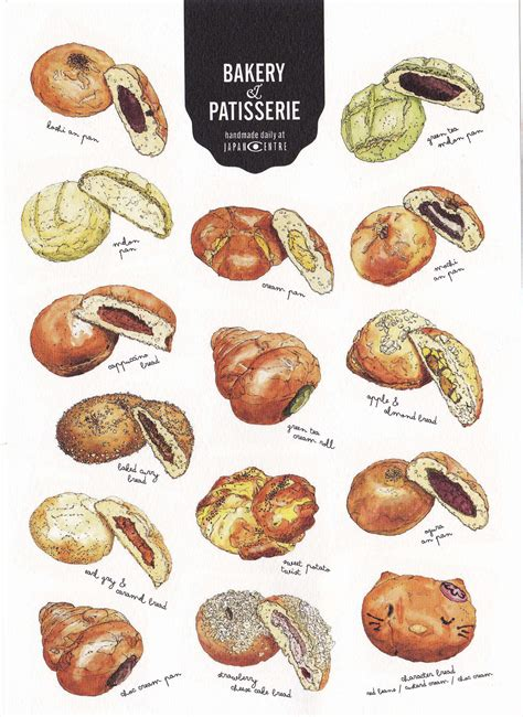 bakery patisserie illustration collected  japan