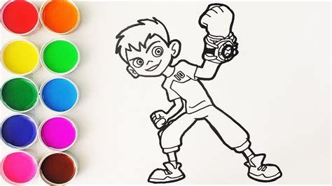 Cómo Dibujar y Colorear a Ben 10 Dibujos Para Niños