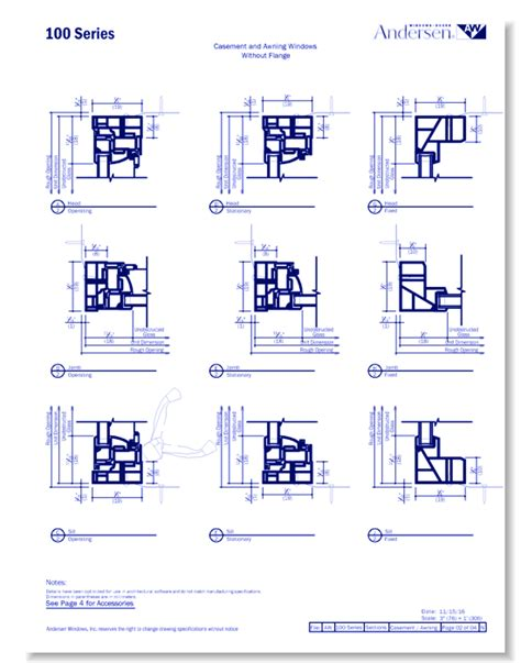 series composite casement awning windows caddetails