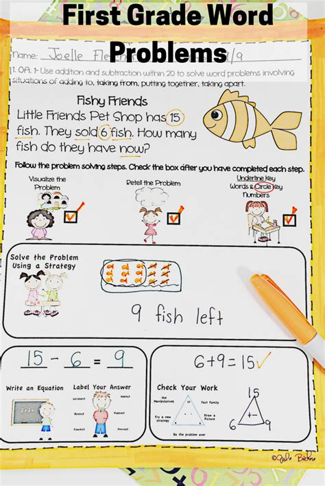 Word problems bundle first grade. First Grade Word Problems Common Core 1.OA.1 & 1.0A.2 ...