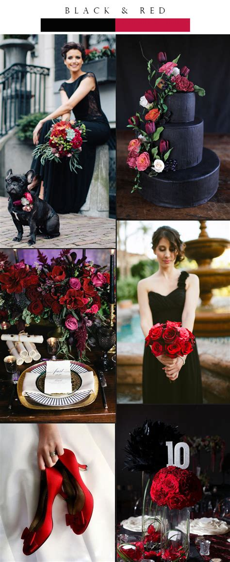 top 3 glamorous black winter wedding color palette ideas stylish wedd blog