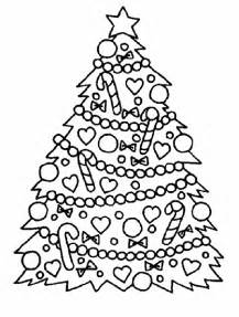 simple christmas tree coloring page images