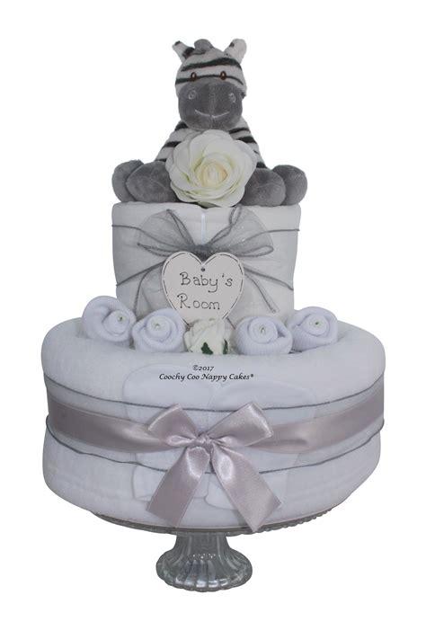 unisex zebra nappy cake baby gift coochy  nappy cakes