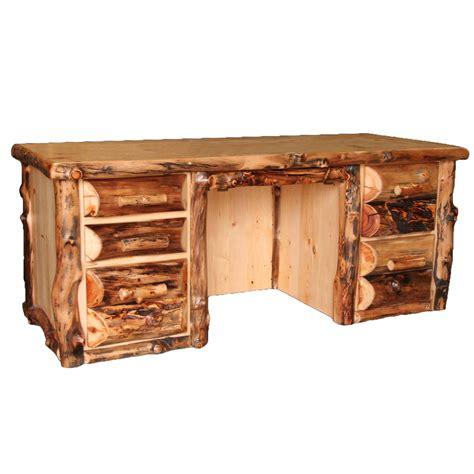 aspen home executive desk aspen log furniture aspen executive desk black forest decor