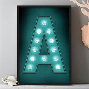 personalised marquee letter print by the drifting bear co With marquee letter a