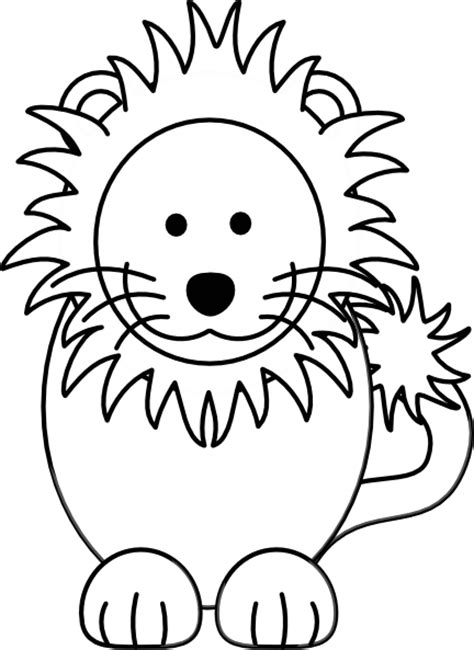 Download 25 giraffe black and white cliparts for free. Lion Black White Clip Art at Clker.com - vector clip art ...