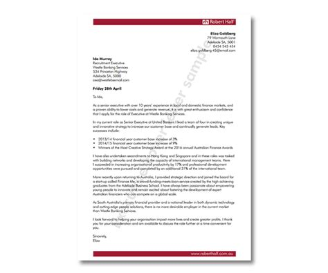 cover letter template robert