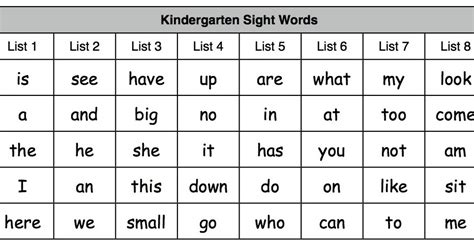 tadpoles trails and trees growing readers kindergarten 375 | K Sight words chart