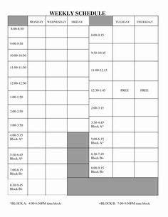 daily work schedule templates images