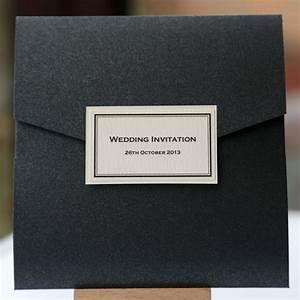ivory black elegant monochrome pocketfold jo malone With pocketfold wedding invitations scotland