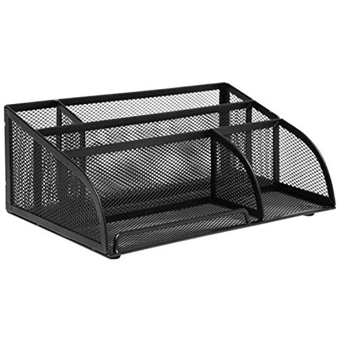 black mesh desk organizer black metal mesh 5 compartment office supply caddy holder