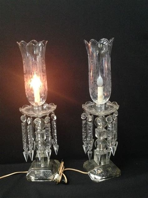 antique electric hurricane ls pair electric crystal hurricane ls w prisms