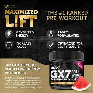 Alpha Gx7 Pre Workout For Men And Women Lasting Energy Enhanced Performance Sugar Free 30