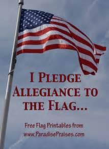 Printable I Pledge Allegiance to the Flag
