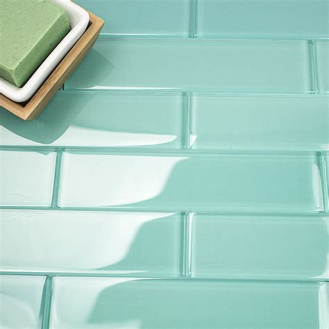 shop  loft tea green  polished glass tiles