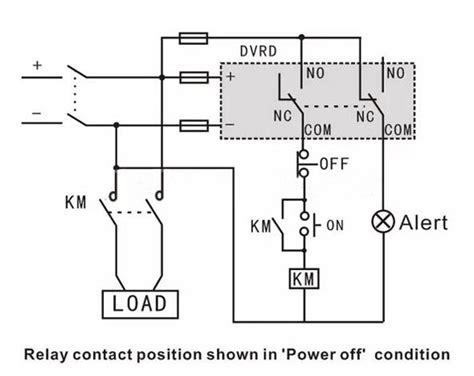 Voltage Wiring Diagram by Dc Voltage Monitoring Relay Voltage 12v 24v