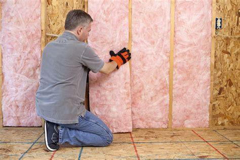 install insulation  drywall  open walls