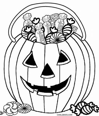 Coloring Candy Pages Corn Printable Halloween Cotton