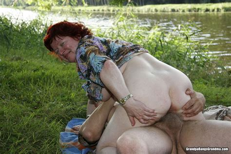 Busty granny couple fucked outdoor - Pichunter