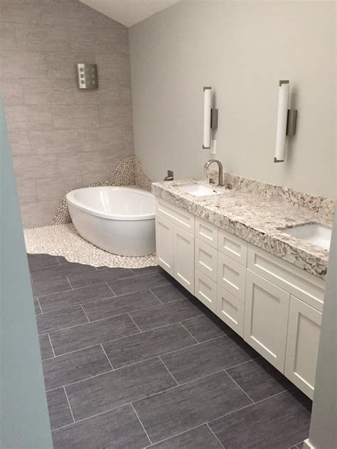 12x24 tile tub surround bamboo grey color porcelain 12x24 tile pebble rock tiles