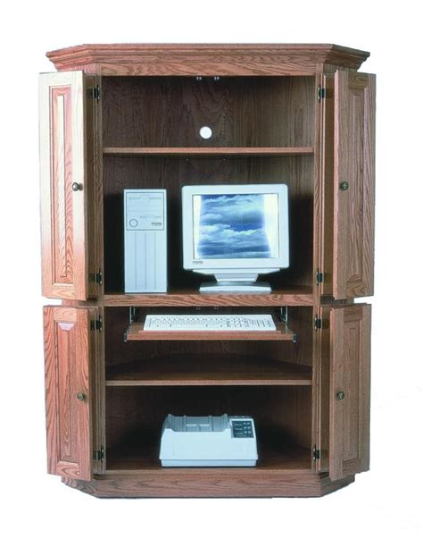 corner computer desk cabinet computer armoire amish corner computer armoires