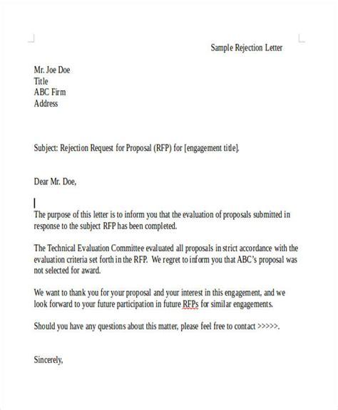 grant rejection letter templates  premium templates