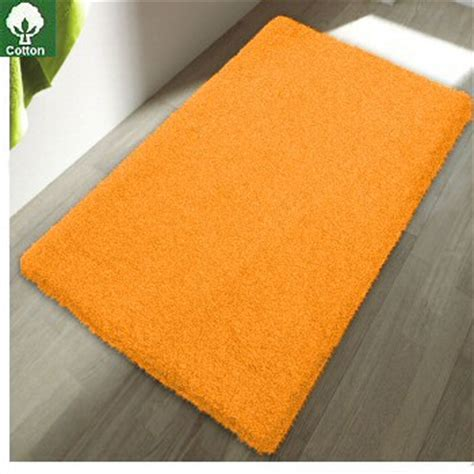 colorful cotton bath rugs   slip backing
