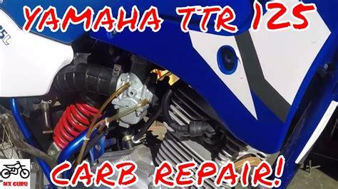yamaha ttr  carburetor clean fix cleaning  pilot