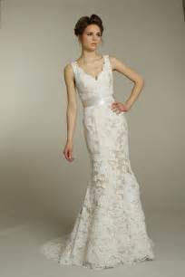 lace wedding dress ivory fall v neck lace wedding dress with chagne ribbon sash sang maestro