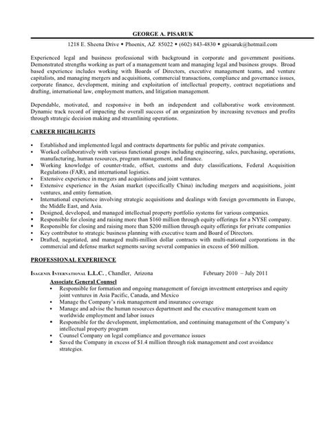 Resume Lawyer Corporate by Insurance Defense Attorney Resume Sle Recentresumes