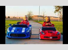 Power Wheels Racing Corvette Stingray vs SRT Viper YouTube