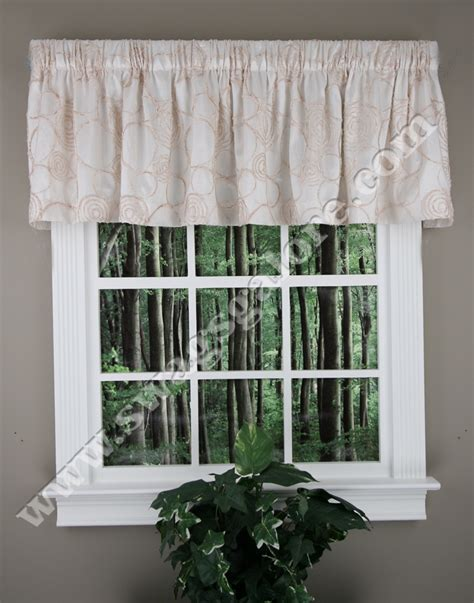circle charm tailored valance blue brown lush decor